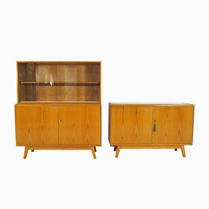 Minimal Sideboards by Bohumil Landsman for Jitona, 1960s, Set of 2