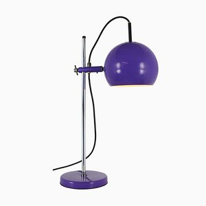 Adjustable Purple Globe Desk Lamp, 1970s
