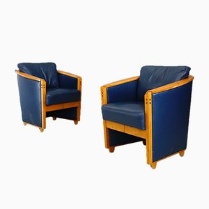 Progetti Lounge Chairs by Umberto Asnago for Giorgetti, 1980s, Set of 2
