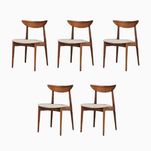 Vintage Rosewood Dining Chairs by Harry Østergaard for Randers Møbelfabrik, 1970s, Set of 5