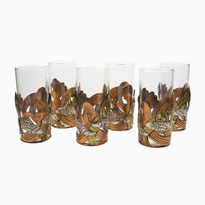 Vintage Glass Holders from Taxco, Set of 6