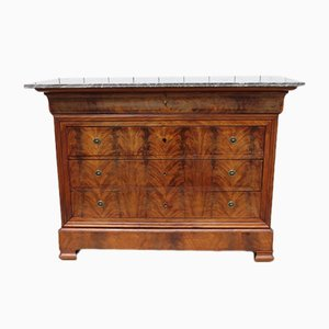 Antique Mahogany and Marble Chest of Drawers