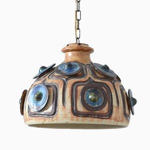 Lampe à Suspension Vintage en Ceramique par Jette Helleroe pour Axella, Danemark
