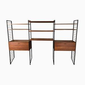 Système d'etagères Ladderax 3 Bay Vintage par Robert Heal pour Staples Cricklewood