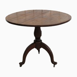 Antique Oak Tilt Top Wine Table