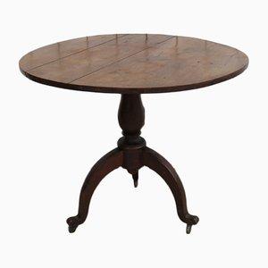 Table à Vin Antique en Chêne avec Plateau Inclinable