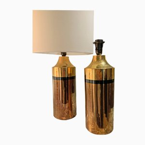 Enamelled Ceramic Table Lamp by Bitossi for Bergboms, 1960s