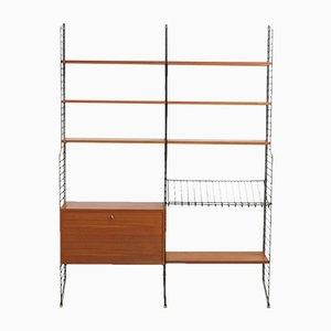 Estante de pared modular vintage de Kajsa & Nils Nisse Strinning para String, años 60