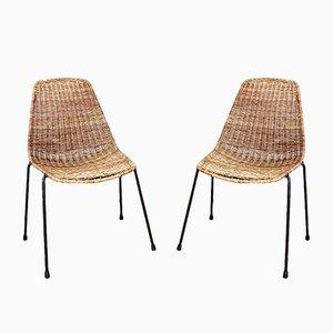 Model Basketball Chairs by Gian Franco Legler, 1960s, Set of 2