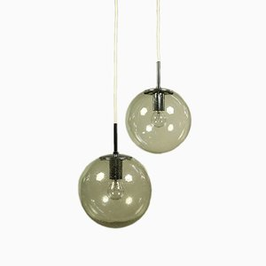 Ball Hanging Lamps from Limburg, 1970s, Set of 2