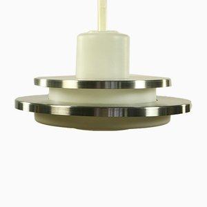 Lampe à Suspension Moderniste Mid-Century en Aluminium et Verre de Doria Leuchten
