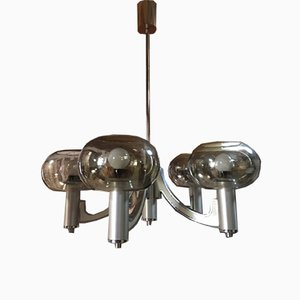 5 Light Chandelier by Gaetano Sciolari, 1970s