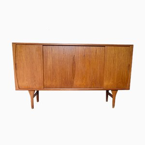 Danish Teak Highboard by Henning Kjærnulf for Bruno Hansen, 1960s