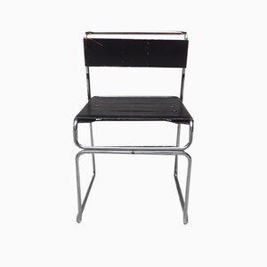 Italian Steel and Leather Libellula Chair by Giuseppe Carini for Planula, 1970s