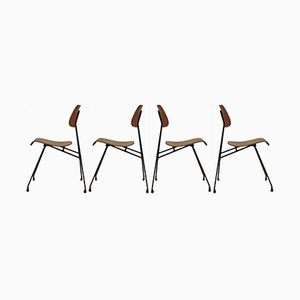 Dining Chairs by Robert Mathieu for Robert Mathieu, 1950s, Set of 4