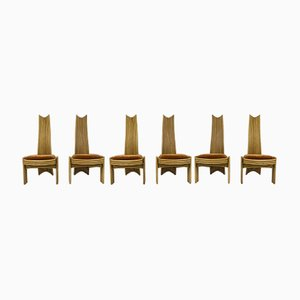 Bamboo Dining Chairs, 1970s, Set of 6