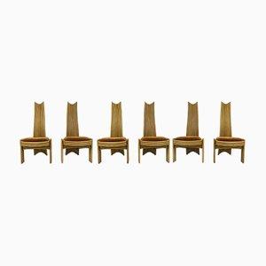 Sillas de comedor de bambú, años 70. Juego de 6
