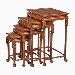 Mesas nido vintage de madera dura de Mayfair and Company, años 50