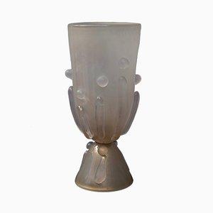 Italienische Mid-Century Tischlampe aus mundgeblasenem Glas von Barovier & Toso, 1950er