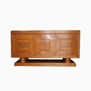 Art Deco Style Oak Sideboard by Charles Dudouyt, 1940s