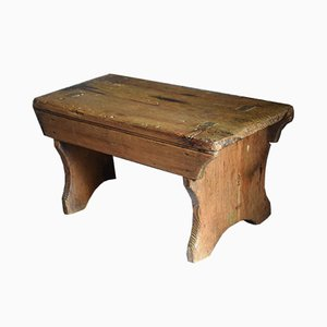 Antique Pitch Pine Stool