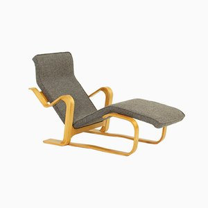 Chaise longue reclinabile vintage di Marcel Breuer per Gavina