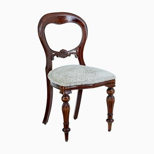 Antique Victorian Style Mahogany Balloon Back Dining Chairs, Set of 10