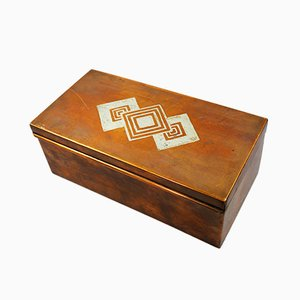 Art Deco Storage or Jewlery Box by Luc Lanel for Christofle, 1920s