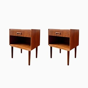 Vintage Danish Nightstands, 1960s, Set of 2
