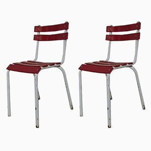 Vintage Industrial Bistro Chairs, Set of 2