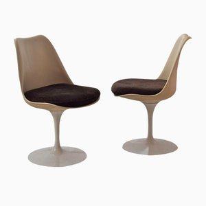 Sedie Tulip girevoli vintage di Eero Saarinen per Knoll International, set di 2