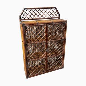 Rattan Storage Cupboard, 1960s