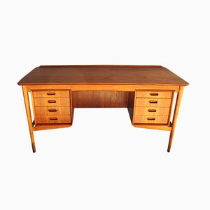 Danish Teak & Oak Desk by Svend Åge Madsen for H.P. Hansen, 1960s