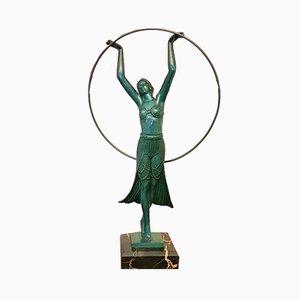 Scultura Hoop Dancer Art Deco di Charles per Max Le Verrier, anni '30
