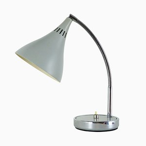 Gray Trumpet Shaped Table Lamp, 1970s