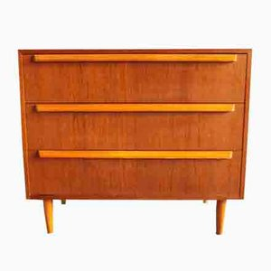 Scandinavian Modern Teak Dresser with 3 Drawers