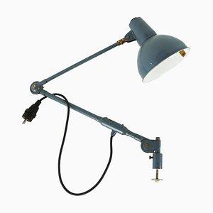 Lampe de Bureau Industrielle en Métal Bleu de SIS, 1970s
