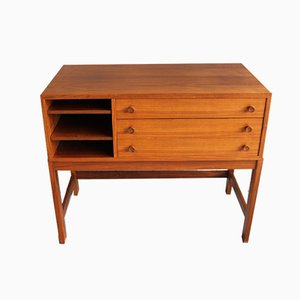 Small Mid-Century Teak Sideboard with 3 Drawers