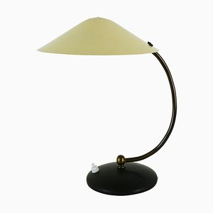 Black and Yellow Metal Desk Light, 1950s