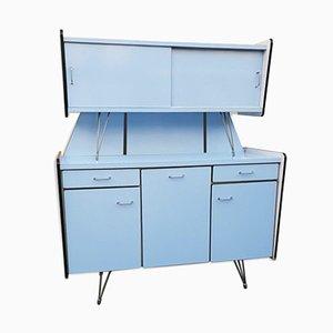 Blaues Vintage Buffet aus Resopal mit 3 Türen von SIF, 1950er