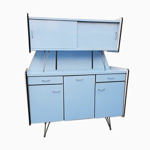 Vintage Blue Formica Buffet with 3 Doors from SIF, 1950s