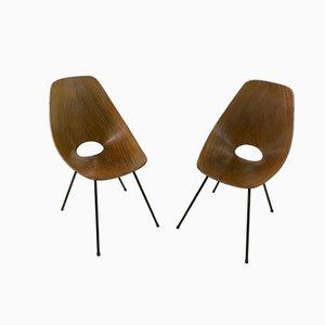 Esszimmerstühle aus Schichtholz von Vittorio Nobili für Medea, 1950er, 2er Set