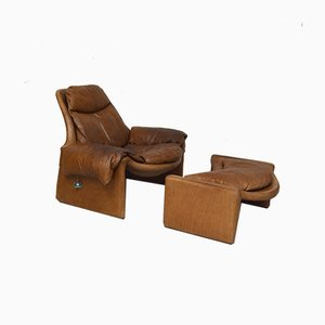 P60 Lounge Chair and P62 Ottoman by Vittorio Introini for Saporiti Italia, 1960s