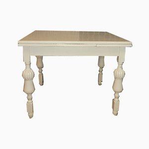 Tavolo da pranzo vintage allungabile laccato bianco