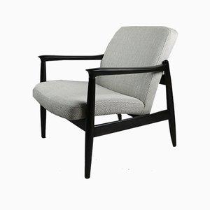 Vintage Beige Velvet Armchair by Edmund Homa, 1970s