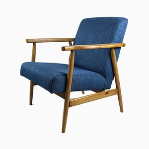 Vintage Blue Rosewood Easy Chair, 1970s