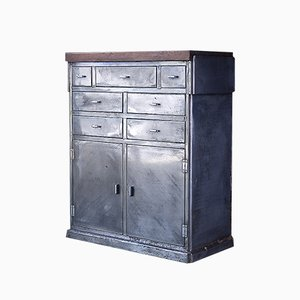 Industrial Steel Pharmacy Cabinet, 1950s