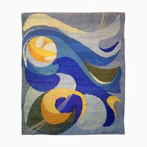 Tapiz de pared escandinavo tejido a mano de Ingrid Hjelmvik Welander