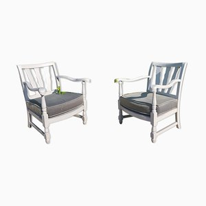 Gray Chairs, 1940s, Set of 2