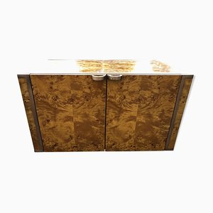 Burl Cabinet by Roche Bobois for JC Mahey, 1970s